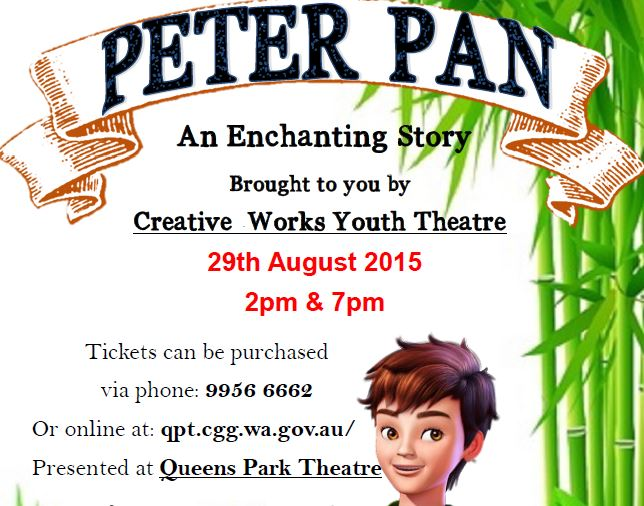 Peter Pan - An Enchanting Story, brought to you by Creative Works Youth Theatre